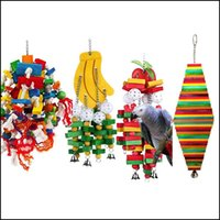 Other Home & Gardencacatua Galerita Aw Large Parrot Wooden Supplies Pet Bite Toy Colorf Bird Drop Delivery 2021 Wqofa