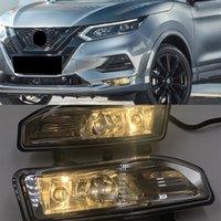 2 шт. Высококачественный автомобиль передний бампер противотуманный обходной лампы набор для Nissan Qashqai 2018 2019 2020 галогенный противотуманный коммутатор