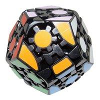 Lanlan Dodecahedron 매직 큐브 퍼즐 IQ 뇌 속도 퍼즐 장난감 학습 교육 Cubo Magico Personalizado 게임 큐브 장난감