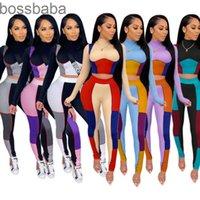 Frauen Trainingsanzüge Zwei Teile Jogginganzüge Designer 2021 Casual Langarm Leggings Slim Top Dame Neue Mode Outfits 835