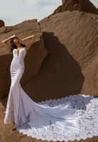 Elegant Plus Size Lace Mermaid Wedding Gowns Spaghetti Straps V Neck Appliques Open Back Chapel Train Bridal Dresses vestidos de noiva Custom Made