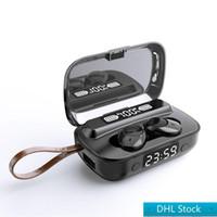 1 adet Stok A13 Kablosuz Kulaklık Bluetooth Kulaklıklar T-WS 5.1 LED Ekran Kulaklıklar Perakende Kutusu ile Stereo Spor Kulakiçi