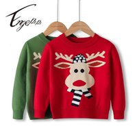 Pullover Engepapa Winter Christmas Baby Boy Girl Cartoon Sweater Long Sleeves Children's Clothes Knitted Year