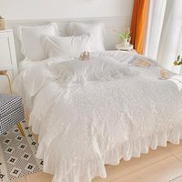 Bedding Sets 4 6Pcs Luxury Set Queen King Size Lace Ruffled Princess Style Duvet Cover Bed Sheet Linen Bedspread On The