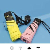 Moda Portátil Homens Guarda-chuva Mini Cápsula Pocket Proteção UV Chuva Dobrável Mulheres Compact Pequeno Capsule Umbrel Jllwku