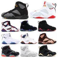 3 S PATTA 7S Jumpman Olymipc Mavi Kazak 7 Raptro Kömür Erkek Basketbol Ayakkabı Ray Allen Gmp Bordeaux Eğitmenler Erkekler Sneakers Boyut ABD 7-13
