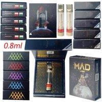 Mad Labs распылители пустые вершины ручки вап картриджи упаковки 0.8 мл Тележки керамические картридж толщиной испаритель масла 510 резьба E Cigarettes Starter Kits