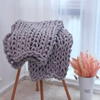 Chunky Knit Blanket Handmade Home Decor Soft Throw Cozy and Warm Cable for Sofa , 79''x79''(King Size)