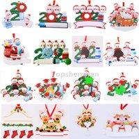 17 Stil Upgrade 2021 Weihnachtsschmuck Dekorationen Quarantäne Survivor Harz Ornament Kreative Spielzeug Baumdekor Für Maske Schneemann Hand Sanitized Familie DIY Name
