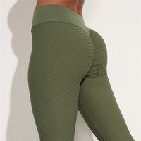 Pantalones de yoga elásticos negros negros negros negros verdes para las mujeres que corren ciclismo Pantalones de boxeo Pantalones para la piel Leggings transpirables