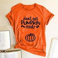 호박 씨앗을 먹지 마십시오. 여성 T 셔츠 여름 그래픽 티 미학을위한 짧은 소매 하라주쿠 탑