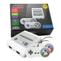 فيديو لعبة وحدة التحكم 620 لعبة مزدوجة اللعب ل snes البسيطة الرجعية لعبة وحدة بيع الساخن