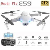 E59 Mini Drohne 4k HD Camera Professionelle Luftaufnahme Hubschrauber 360 Grad WiFi Echtzeitübertragung Quadratischer Kopter