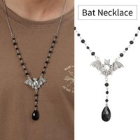 Chains Gothic Style Jewelry Accessories Fashion For Women Men Bat Pendant Necklaces Long Chain Sweater