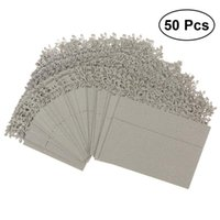 Greeting Cards 50pcs Hollow Out Wedding Birthday Table Decoration Place Name (Silver)