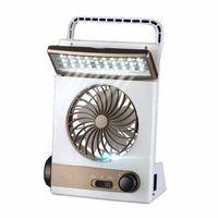 Solar Power LED Fan Sundies 2000mAh recargable recargable enfriamiento multifuncional Tienda de la tienda Lámpara de linterna Mini fanáticos para acampar