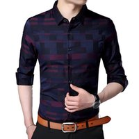 Men's Casual Shirts Mens Plaids Shirt Vintage Style Business Trip Long Sleeve Brand Clothing Designer For Summer Spring Fashion A06250917