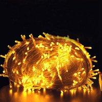 문자열 휴일 크리스마스 조명 10m 20m 30m 50m 100m LED 문자열 요정 빛 야외 화환 웨딩 파티 장식