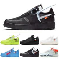 حذاء رياضي فورس ون 1 عالي الجودة 1 قبالة MCA أزرق أبيض أحمر فضي معدني للرجال والنساء حذاء رياضي خارجي فولت 2.0 منخفض أسود أخضر GNER 36-45