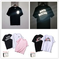 Kadın T Gömlek Kısa Kollu Yüksek Kaliteli Erkekler Tees Saf Pamuk Yaz Mektup Baskı Hip Hop Tarzı Giysileri Tag Kutusu Ile