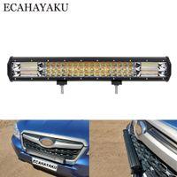 20 pollici a tripla righe off-road LED Bar Light Light Light 12V 288W 4000K / 6000K Dual Colors Strobe LED Bar per auto camion 4x4 4WD