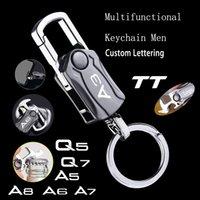 Pour Audi A3 A4 A5 A6 A7 A7 Q2 Q3 Q5 Q7 Q7 TT Beige Beige Cintre Multifonctionnel Légende Key Ring Clé Caractère