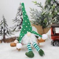 DHL New Noël Decoraion d'ornement de Ghome de Noël avec la lumière LED tricoté longues jambes de forêt poupée pendentif arbre de Noël ahe5178