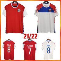 2021 Neueste Chile Soccer Jersey Top Qualität Chilenisches Zuhause 20 21 Vidal Alexis Sanchez Felipe Mora Erick Pulgar Football Trikots Männer Sho