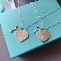 قلادة قلادة الفاخرة مصمم قلادة الكلاسيكية القلب إمرأة أزياء الذهب والفضة الفضي مصمم المجوهرات
