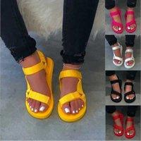 Summer Woman Slides Cross-tied Flat Sandals Roman Beach Slippers Black Plus Size 43 Non-slip Eva Flip Flops Outdoor Shoes Q0523