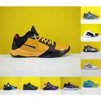 2021 Yüksek Kalite ZK5 KB5 5 S Bruce Lee Protro Basketbol Ayakkabıları 5x Champ Lakers Mor Sarı Altın 2 K20 Kaos Mamba Zoom ZK 5 V Erkek Sneakers