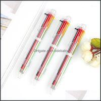 Writing Supplies Office Business & Industrial1Pcs 6 Colors Stationary 0.5Mm Color Press Ballpoint Novelty Gel Pen Cute Pens Kawaii School Su