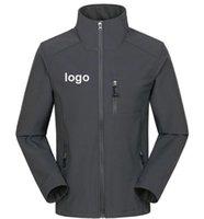 Giacche da uomo Giacche personalizzate Logo Design Stampato Autunno Impermeabile Cappotto antivento impermeabile Zipper Softshell Degisn Capispalla Tops