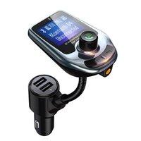 MP3 MP4 플레이어 블루투스 자동차 키트 D4 D5 무선 음악 플레이어 FM 송신기 변조기 3.0A 듀얼 USB 충전기 스피커 AUX LCD 디스플레이
