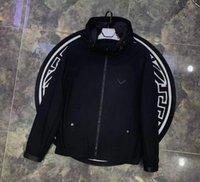 20ss 2021 고품질 망 디자인 재킷 스트라이프 슬림 프린트 포켓 바람 캐주얼 야구 재킷 지퍼 후드 깃털 깃털 파카 겨울 M-3XL