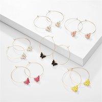 Butterfly 4.3x5.3cm Hoop Earrings for Women Fashion Jewelry Statement Earrings