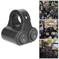 Auto-Blinker-Lautsprecher-Schalter 12V Scheinwerferschalter Dual-Taste-Steuerung Aluminiumlegierung Motorrad-Lenker 7/8in 22mm