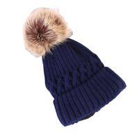 جديد الخريف والشتاء في الهواء الطلق قبعة محبوك اللون الصوفية قبعة الصوف مع بوم بالإضافة إلى المخملية الجملة القبعات الشتاء رخيصة الدافئة