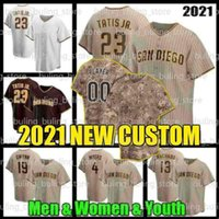 23 Fernando Tatis Jr. Custom Baseball Jersey 13 ماني Machado Tony Gwynn Wil Myers Eric Hosmer Yu Darvish Blake Snell Jake Cronenworth تريفور هوفمان