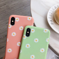 Floral Daisy Design Phone Case for IPhone 11 Pro X XR XS Max 6 6S 7 8 7Plus 5 Fashion Daisy Flower Case Soft TPU Cover Cell Phone Case Bulk 97268