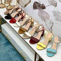 المرأة عالية الكعب الصنادل اللباس أحذية كعب خشن المرأة امرأة مشبك معدني الأطراف أعلى بكعب أحذية الأحذية حزام الابازيم مثير سيدة صندل مع مربع حجم 35-42