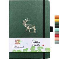 Buke Notebook Dot Grid Journal Dibujo de puntos Sketchbook-160gsm Paper, Bolsillo interior, Página numerada P1- P160 210611