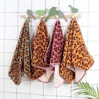 Leopardo Imprimir Toalla Limpiar Facilidad Mano Toallas Limpieza Cuadrado Limpieza Manos Coral Fleece Absorbente Turbante Turblas Limpieza Toallas GWB5468