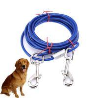 3 M Çelik Tel Tow Halat Tasma Kablosu Ile Çift Kafaları Ile Metal Kancalar Kurşun Askısı Küçük Büyük Pet Kedi Köpek