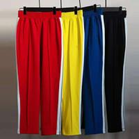 2021 erkek tasarımcı slacks kadın rahat gökkuşağı yan şerit İpli moda koşu erkek açık pantolon s-xl