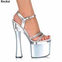 Sandalias RNCKSI 18cm Zapatos de baile de poste sexy Tacones altos Temperamento y interés de 7 pulgadas Modelo de mujeres