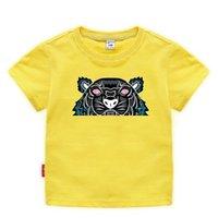 100% coton garnitures t-shirt été 2021 imprimé manches courtes à manches o-cou de la mode enfants pour enfants pour enfants tee filles tops vêtements de haute qualité