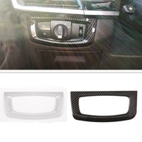 ABS Car Interior Headlight Lamp Switch Decoration Frame Trim Stickers Fit For BMW X5 F15 X6 F16 Auto Accessories