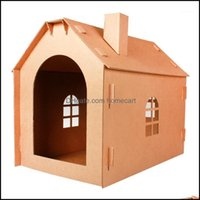 Cat Pet Supplies Home Gardencat Beds & Furniture Corrugated Paper House Nest Toy Grinding Cardboard Carton Diy Kitten House1 Drop Delivery 2