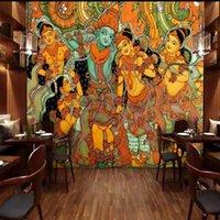 Wallpapers Drop Custom 3d Wallpaper Buddha Image Oil Painting Decorative Backdrop El Bedroom Gallery Mural